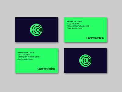 OneProtection Business Cards branding design business card logo brand