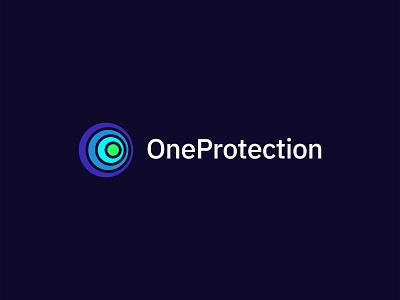 OneProtection Logo planet minneapolis illustration branding vector brand logo