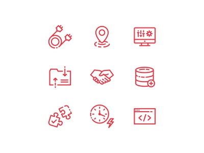 Software Development Icons design illustration icons software technology tech