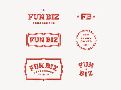 Fun Biz Lockups custom type branding brand logomark logo