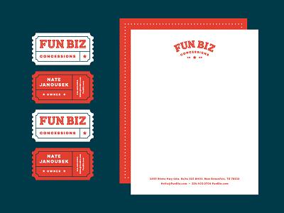 Fun Biz Applications brand design hat tshirt letterhead business card