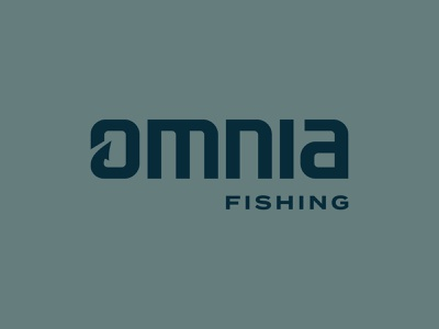 Omnia Fishing Wordmark custom type typography vector branding brand logo
