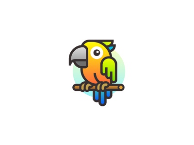 Parrot vector adobe illustrator art line icon cartoon flat parrot logo parrot icon illustration logo design