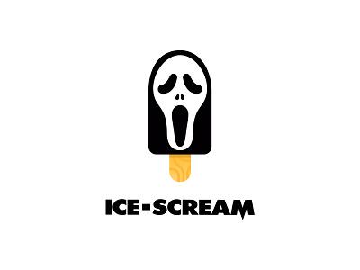 Ice scream scream ice cream icecream line icon logo art cartoon adobe illustrator vector illustration icon flat design