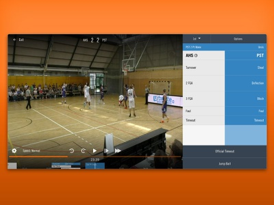 Basketball Tagging  playback controls basketball stats hudl timeline team colors possession stats tagging basketball