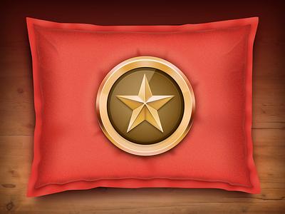 Pro Badge star badge wood pillow gold. reflections icon wunderlist pro accounts velvet