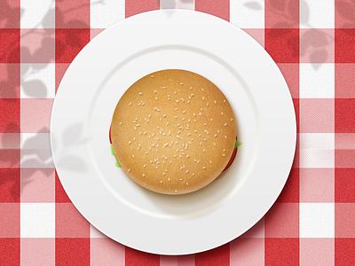 Burger burger napkin plate food