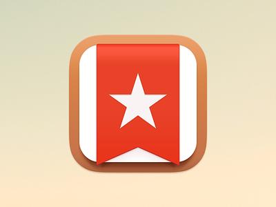 Wunderlist Icon wunderlist icon ios7 app ribbon star app icon mobile desktop