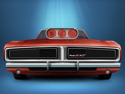 Wundercharger car metal red orange chrome oldtimer wunderkit 6wunderkinder