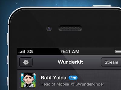 iPhone iphone phone wunderkit mobile app