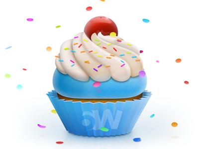 Cupcake cupcake food sweets cherry 6wunderkinder nyom