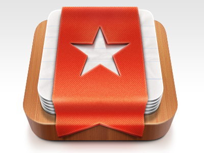 Wunderlist 2 Icon wunderlist icon desktop mac osx ribbon star paper wood fabric