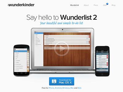 6wunderkinder.com Redesign redesign webdesign wunderlist 2