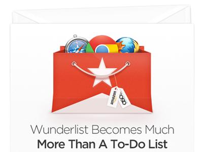 Newsletter newsletter shopping bag wunderlist icon extension ribbon browser firefox chrome safari