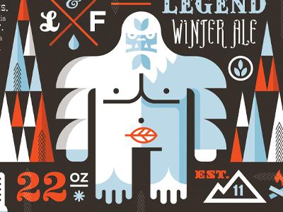 Lengend Winter Ale beer yeti package drink