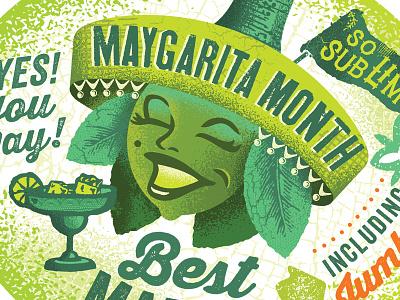 Maygarita margarita drink lime lemon face head mexican