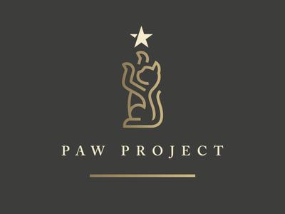 Paw Project paw line cat animal star