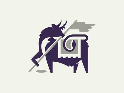 Cowan Golf animal horn golf flag cow