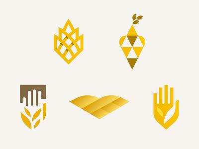 Kansas based logo exploration land wheat bird hand kansas