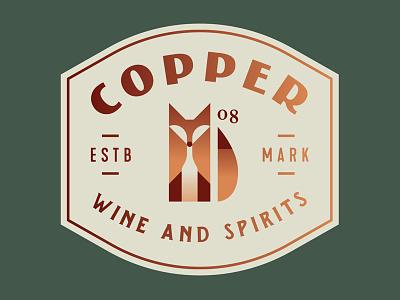 Wine and Spirits copper red animal spirits bottle wine fox