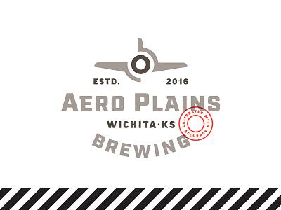 Aero Plains kansas plane fly air craft brew beer logo