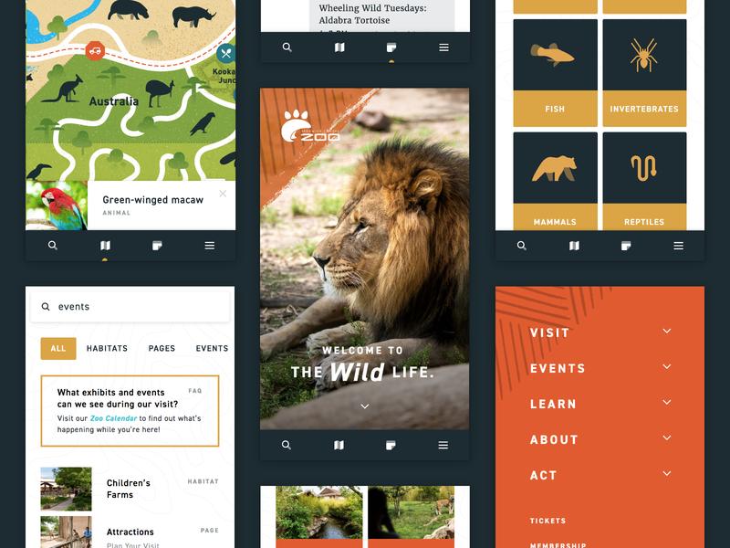 Zoo Mobile Website ux ui zoo mobile responsive website web interactive map