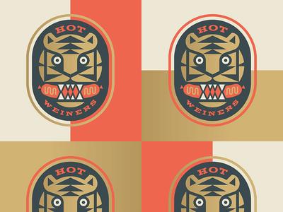 Hot Weiners hot badge hotdog tiger