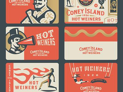Coney Island Gift Cards animal man women fire circus strong hotdog gift card
