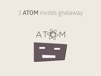 ATOM invites giveaway