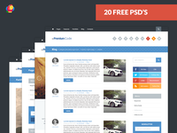 Web Template - 20 Free PSD's