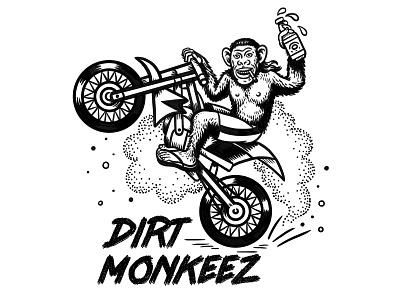 Dirt Monkeez branding t-shirt illustration t-shirt design t-shirt ink digital art hand lettering quirky surreal cartoon drawing illustration