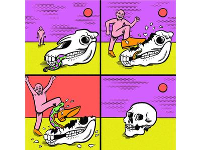 OLEG comic digital art quirky colorful surreal cartoon drawing illustration