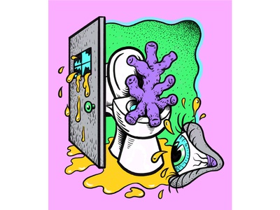 Lachrymae/Safe Space personal work quirky digital art colorful surreal cartoon drawing illustration