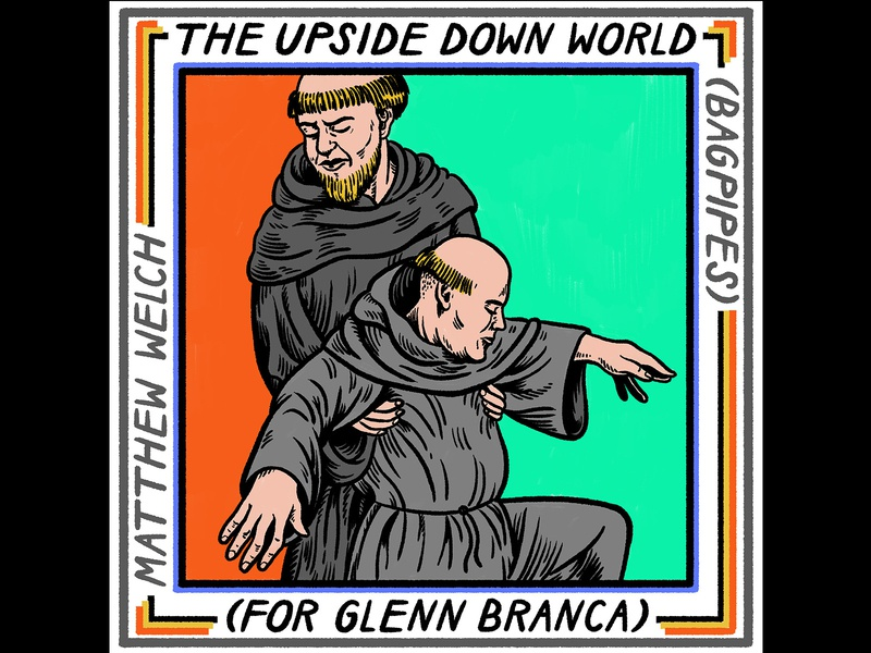 The Upside Down World album cover art album cover design kotekan album cover hand lettering quirky digital art colorful surreal cartoon drawing illustration