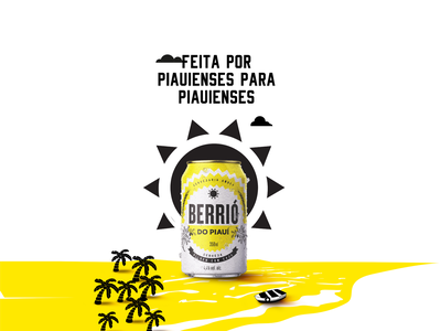 Berrio do Piaui Ambev Poster typography type vector logo beer package identity logotype branding poster