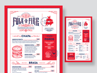 Folk 'n' Fire Menu Design