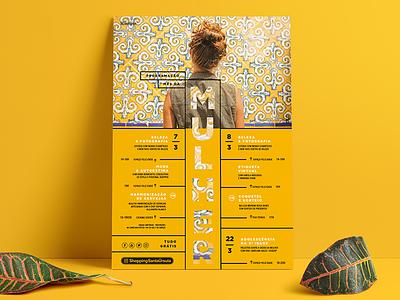 International Women's Days Poster Design woman women events mall graphic design poster