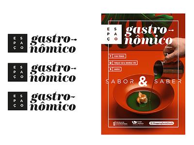 Espaço Gastronômico Posters graphic design poster school cooking food gastronomic space
