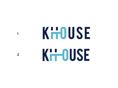 K House Logo logotype branding logo real state home house key