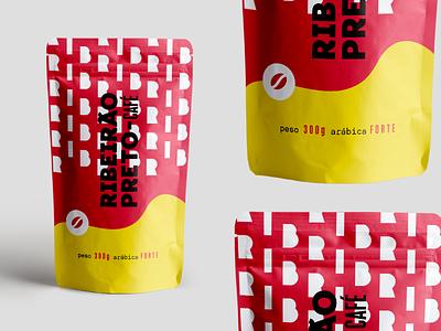 Ribeirão Preto - Coffee Package Design beans yellow red ribeirao preto graphic design package coffee
