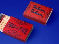 Folk 'n' Fire Matches Box