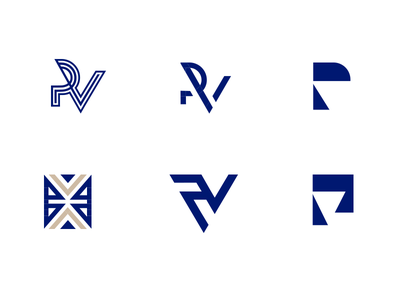 P + V - Pinheiro & Villela Law Firm marine blue minimalism minimalist minimal initials icon logotype monogram logo v p