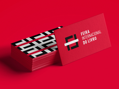 FIL Feira Internacional do Livro - Business Card typography vector business card pattern type design identity logotype branding logo