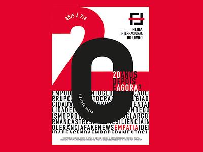 FIL Feira Internacional do Livro - KeyVisual Poster poster book type design identity logotype branding logo