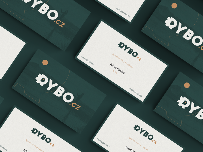 Rybo v.2  business card bussines card podcast logo fish