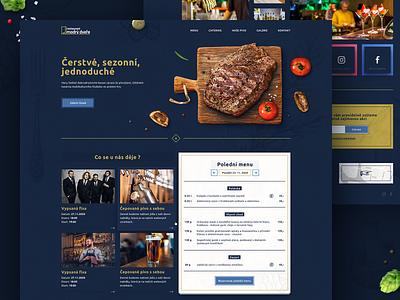 Modrý dveře webdesign bar pub restaurant web