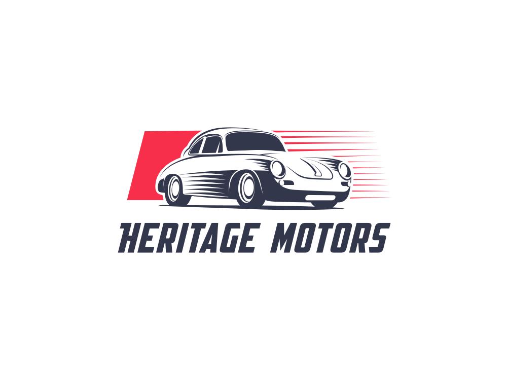 Heritage Motors car vintage logo