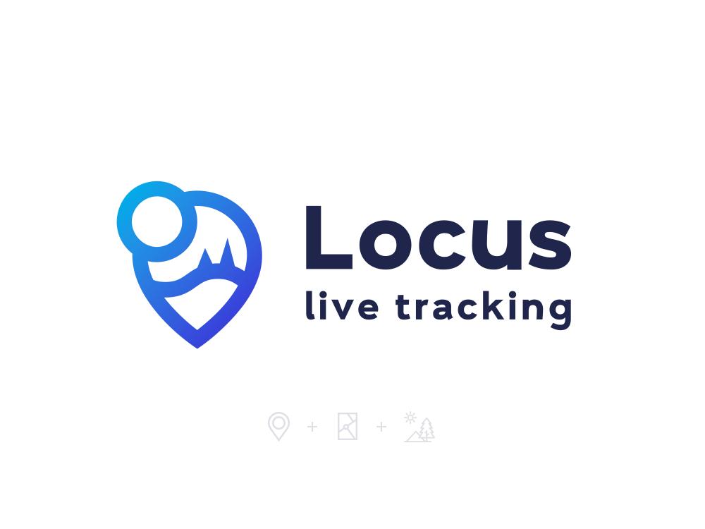 Locus Tracking landscape tracking maps logo