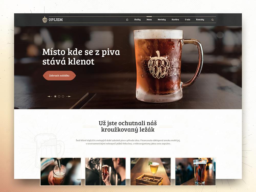 Opijem tavern pub webdesign