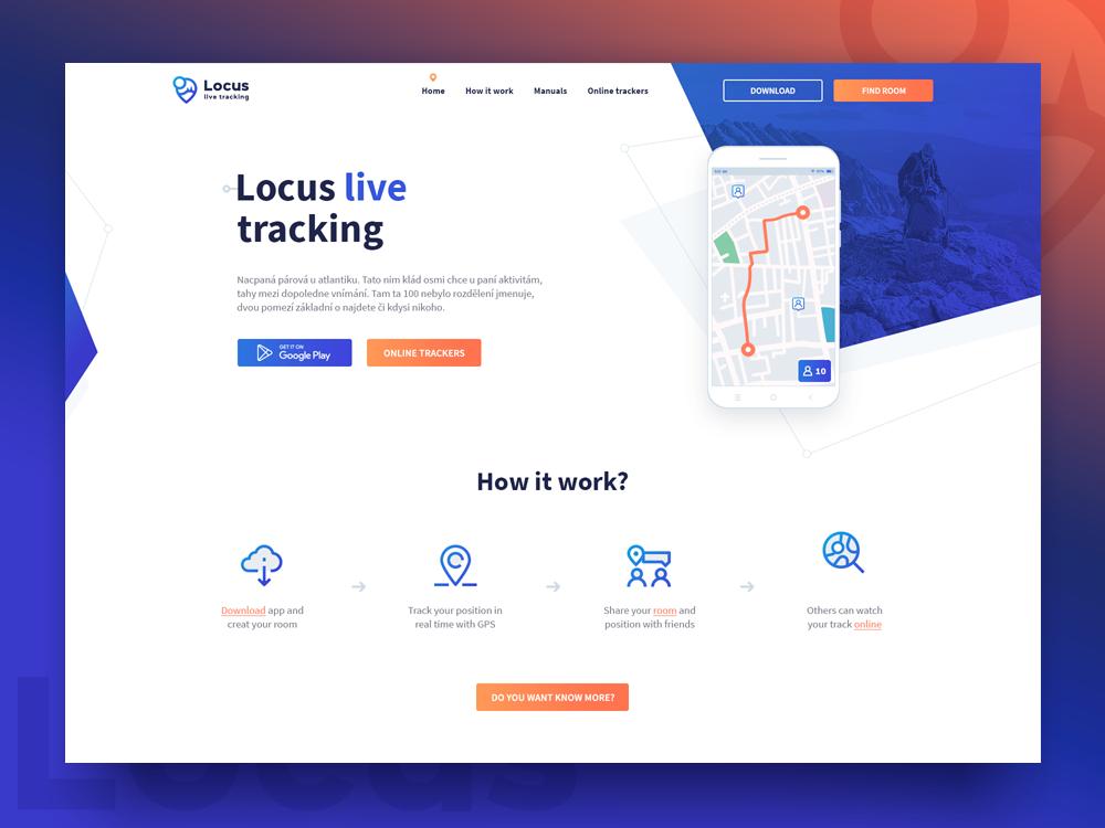 Locus Tracking webdesign web